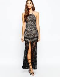 love triangle temptation maxi dress with tie back in blue lyst