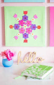 Good Pretty Spring Wall Decor Made From Flower Stickers So Cute