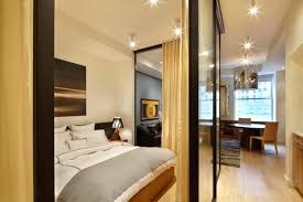 Studio Apartment Bedroom Ideas Stunning Room Divider And Laminate Hardwood Flooring