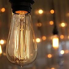 kiven vintage edison bulb dimmable antique light bulb 60w