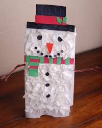 Preschool Activity Snowman Paper Bag Puppet