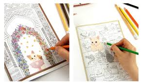 Korean Jetoy Cute Choo Cat Art Coloring Book Graffiti Drawing Painting Books Relieve Stress Like Secret Garden Adult Kids In From Office School