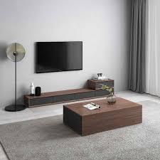 tisch aus holz design wohnzimmer tv monitor stand mueble