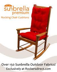 Outdoor Furniture Cushions Sunbrella Fabric by Sunbrella Rocking Chair Cushion Set Red Yellow U0026 Orange Fabrics
