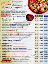 Pizza Cottage Menu and Prices 2018 RestaurantFoodMenu