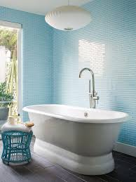 Light Blue Subway Tile by Blue Bathroom Design Ideas
