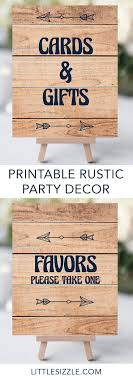 Printable Decor Pack For Rustic Baby Shower