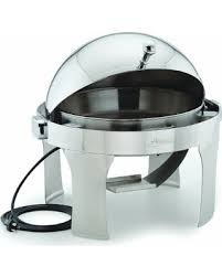 Alegacy AL550AE Stainless Steel Savoir Round Electric Chafing Dish 15 Inch Diameter