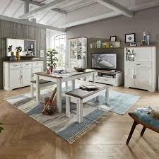 lomado komplettset wohn und esszimmer jülich 36 in pinie weiß und artisan eiche nb wohnwand b h t 359 204 51cm