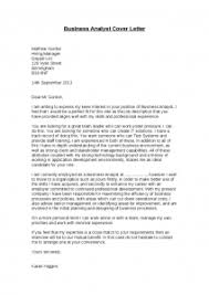 Brilliant Ideas Business Analyst Cover Letter Sample with No