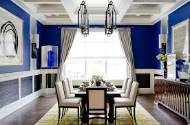 View In Gallery Unique Cheerful Blue Dining Room Photography Rikki Snyder