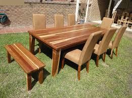 Nanda Kiaat Exotic African Hardwood Dining Room Set