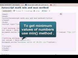 Javascript Math Ceil 0 by Javascript Tutoriral Javascript Math Min And Max Method Youtube