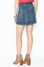 signature 8 embroidered denim skirt from new york city by dor l