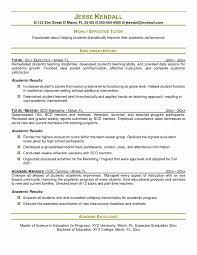 Tutor Resume Sample Math Job Description Ideas