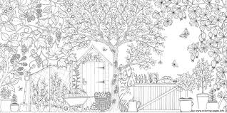 Grown Up Secret Garden Coloring Pages Printable And Within