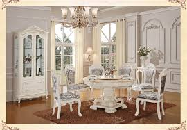 Aliexpress Buy Luxury Wooden Ding Table And Chair White Color Dining Setsclassical Room Furniture From Reliable
