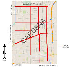 100 Truck Route Map City S City Of Gardena