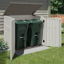 Rubbermaid Vertical Storage Shed by An Outdoor Storage Shed Is Ideal For Storing Garbage Cans Lawn