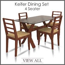 4 Seater Dining Set Four Table And Chairs Regarding For