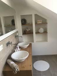 waschtisch platte schrank holz eiche bad wc baumkante regal
