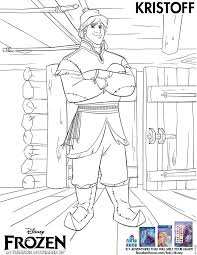 Disney Frozen Kristoff Coloring Sheet Printable