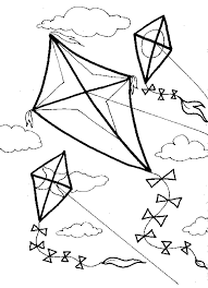 Enjoy This Free Kite Printable Use With Crayons Markers Colored Pencils Paint Or For A Collage Fun Coloring Page