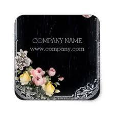 Rustic Elegant Vintage Botanical Chalkboard Floral Square Sticker