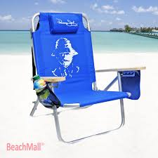 Telescope Beach Chairs With Cup Holder by Beachmall Com 5 Pos Beach Chair By Panama Jack Beach Chairs