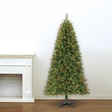 7ft Christmas Tree Pre Lit by 7 Ft Pre Lit Green Full Willow Pine Artificial Christmas Tree