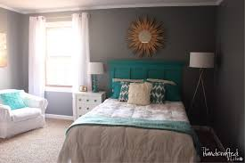 bedroom extraordinary turquoise white and gray bedroom decoration