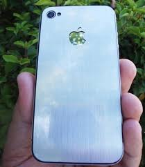 Aluminum iPhone 4 Decal