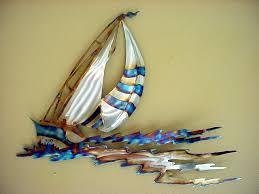 superb sailboat wall decor sail regatta colorful sailboats