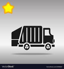 100 Garbage Truck Tab Black Garbage Truck Icon Button Logo Symbol Vector Image