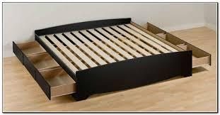 simple king platform bed frame with storage bedroom storage
