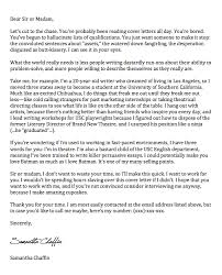 The Best Cover Letter Ever Sample
