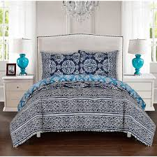 Bella Lux Bedding by Lux Bed 3 Piece Peridot Navy Duvet Cover Set Products