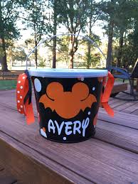 Mcdonalds Halloween Buckets Commercial by Halloween Bucket Candy Bowl Trick Or Treat Bag Mickey Minnie
