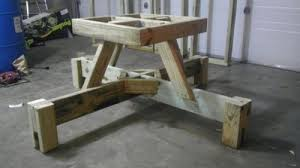 pdf 8 foot picnic table with detached benches plans free