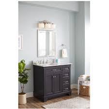 allen roth Roveland Gray 36 in Undermount Single Sink Birch
