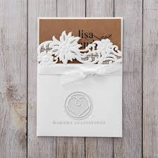 Rustic Laser Cut Pocket With Classic Bow Wedding