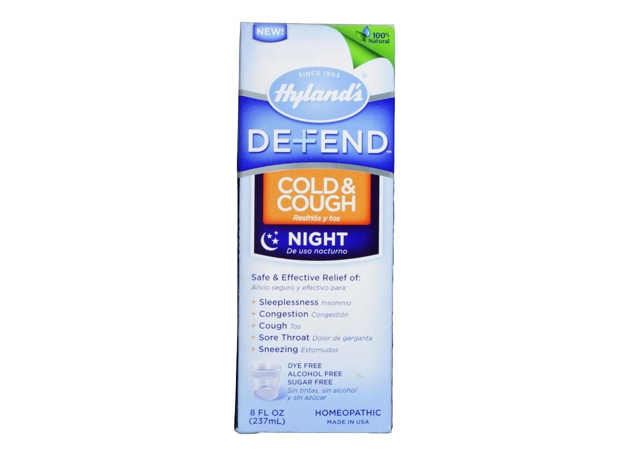 Hylands Defend Cold and Cough Night - 237ml