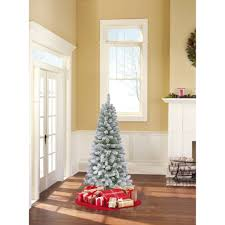 Artificial Christmas Trees Uk 6ft by Holiday Time Unlit 6 5 U0027 Jackson Spruce White Artificial Christmas