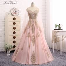 popular pink gold evening dresses buy cheap pink gold evening
