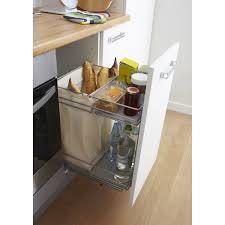 plateau coulissant pour cuisine rangement coulissant et bouteilles pour meuble l 40 cm delinia