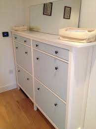 Baxton Shoe Cabinet Canada by Wedded Hemnes Shoe Cabinets Twined And Painted Ikea Hackers