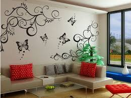 Butterfly Vine Decoration Flower Removable Vinly Wall Poet Art Sticker DIY 3D Decal Quotes Decorative