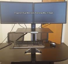 Dual Monitor Standing Desk Attachment by Review Ergotron Dual Monitors Standing Mount Desk Youtube