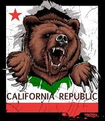 Growling Grizzly California Bear Flag