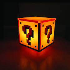 amazon com paladone super mario question block night light toys
